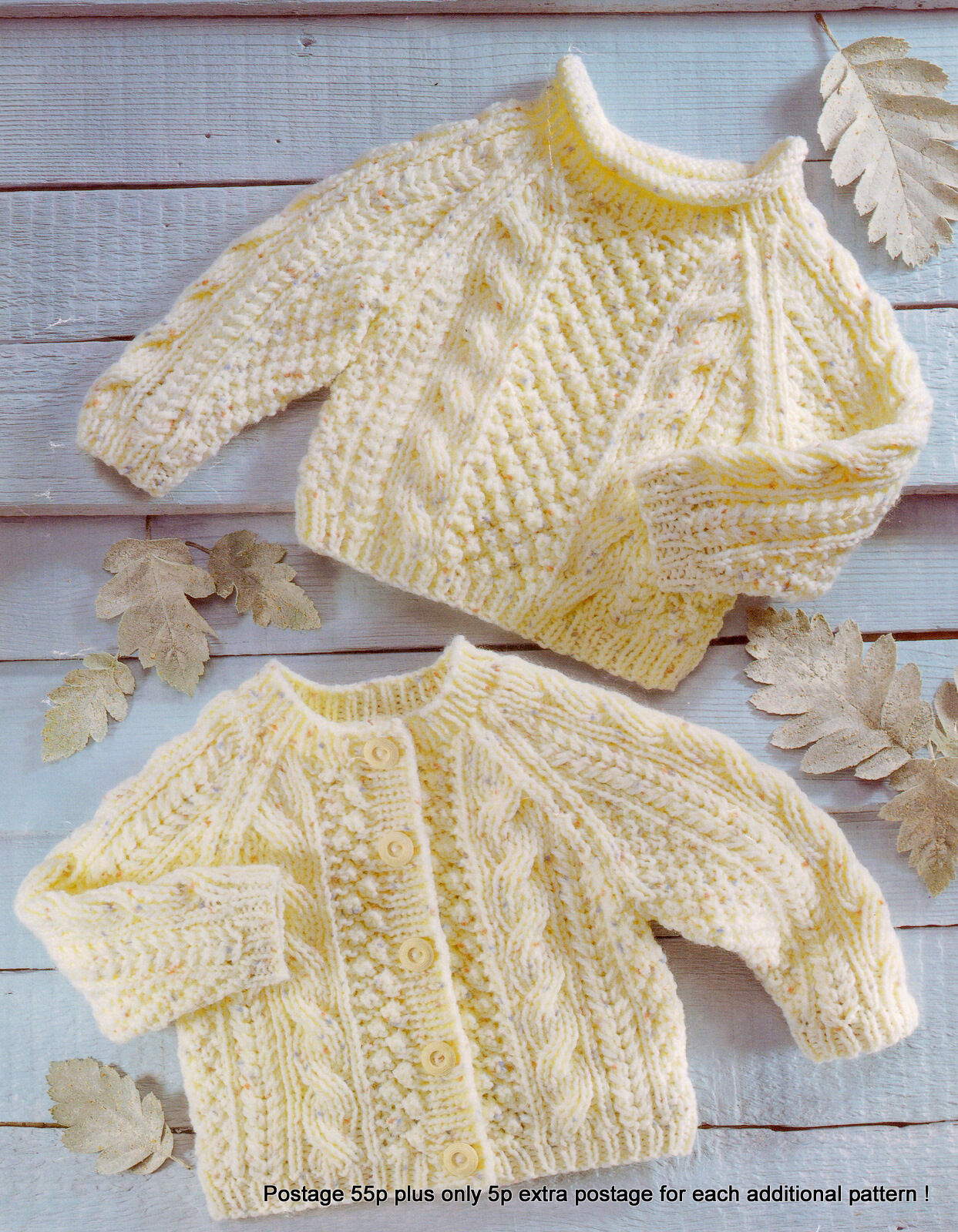 Knitting Rope For Sale : Baby aran cardigan sweater pattern ropes popcorn