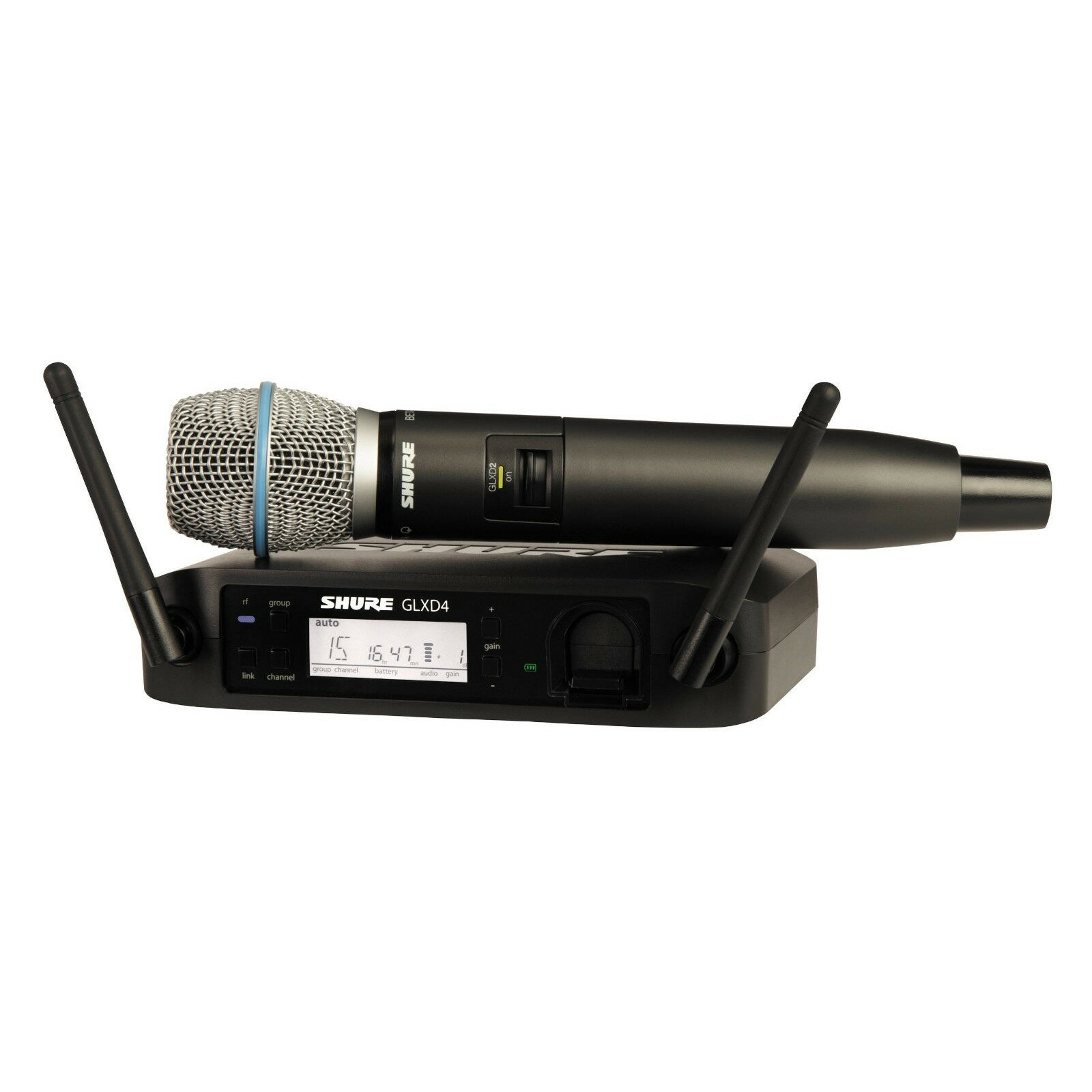 Shure GLXD24 Beta87A Wireless Handheld Microphone System (Z2  2400-2483 MHz)