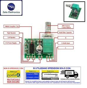 MODULO-PAM8403-AMPLIFICATORE-AUDIO-MINI-STEREO-DIGITALE-5V-SCHEDA-POTENZIOMETRO