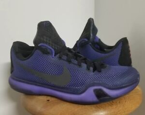 cfcb01c6791e Nike Kobe X Blackout 705317-005 Persian Black Violet Athletic Shoes ...