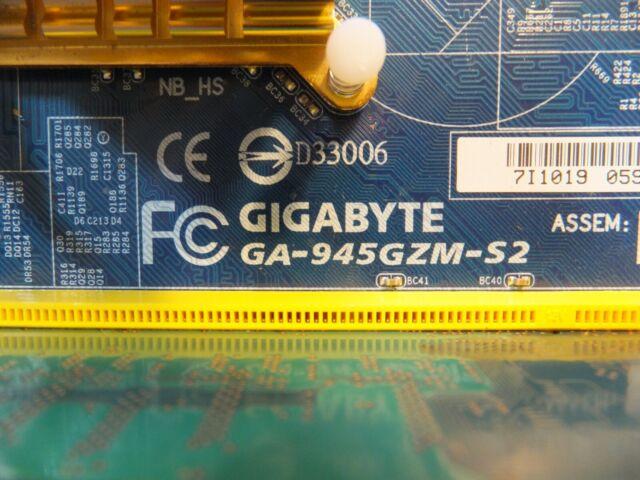 Gigabyte GA-945GZM-S2 V3.9 motherboard Socket 775 DDR2 Intel 945GZ 100/% working