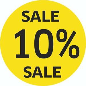10% Sale Vitrine Autocollant Remise Solde Soldes Ssv Spf%-afficher Le Titre D'origine Service Durable