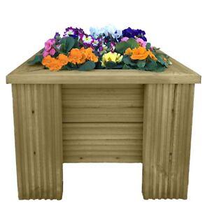 Image Is Loading Premium Decking Wooden Garden Planter Wood Trough Handmade
