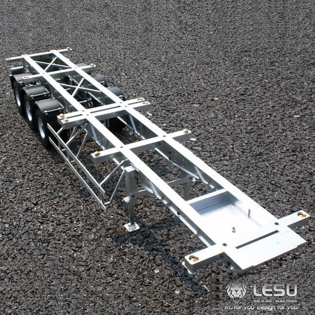 LESU 40 Feet Metal Container Trailer for 1 14 TAMIYA RC Model Car DIY Tractor