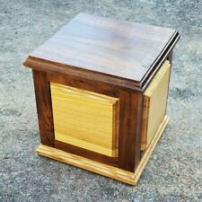 Hand Made Black Walnut/Ash Wooden Urn Cremation Box - built in the USA