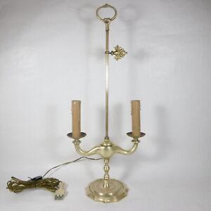 S227 ANTICA LAMPADA DA TAVOLO LAMPE BOUILLOTTE IN OTTONE FRANCESE VINTAGE