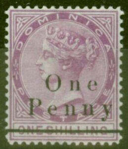 Dominica-1886-1d-sur-1s-Magenta-SG19-Fin-amp-Frais-Legerement-MTD-Excellent-Etat