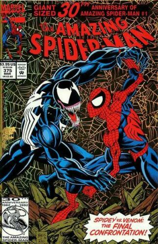 Amazing Spider-Man 375 Bride of Venom Michelinie Mark Bagley Gold Holofoil NM