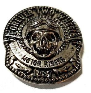 concho-screw-snap-Skull-forever-two-wheels-Gothic-biker-wallet-trucker