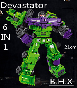 New-Deformabl-Engineering-Truck-Robot-Combiner-Devastator-Action-Figure-8-Toys