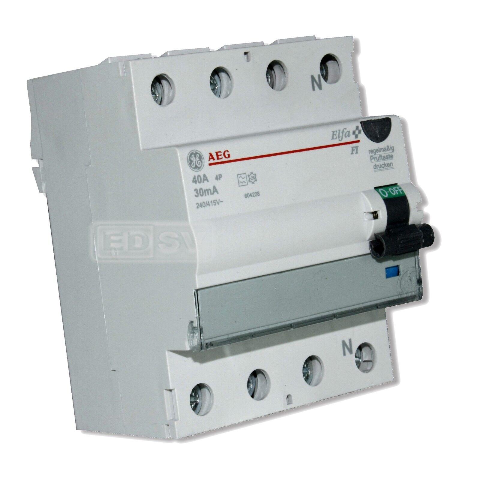 FI Schalter 4 polig 63 Ampere 0,5 Ampere