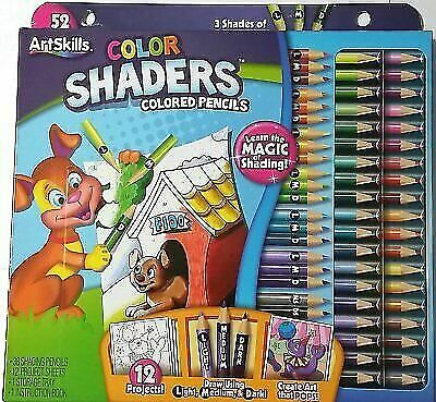 ArtSkills Color Shaders Colored Pencils 52 Piece Set for sale online