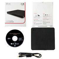LG SP80NB60 Portable External Ultra Slim 8x CD DVD±RW USB 2.0 Drive Writer-Black