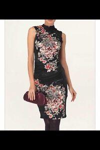 BNWT-Phase-Eight-MIKIKO-Oriental-Print-Black-Blush-Evening-Party-Dress-Size-18