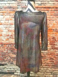 Free People Sequin Dress Long Sleeve Size XS/TP Short ...