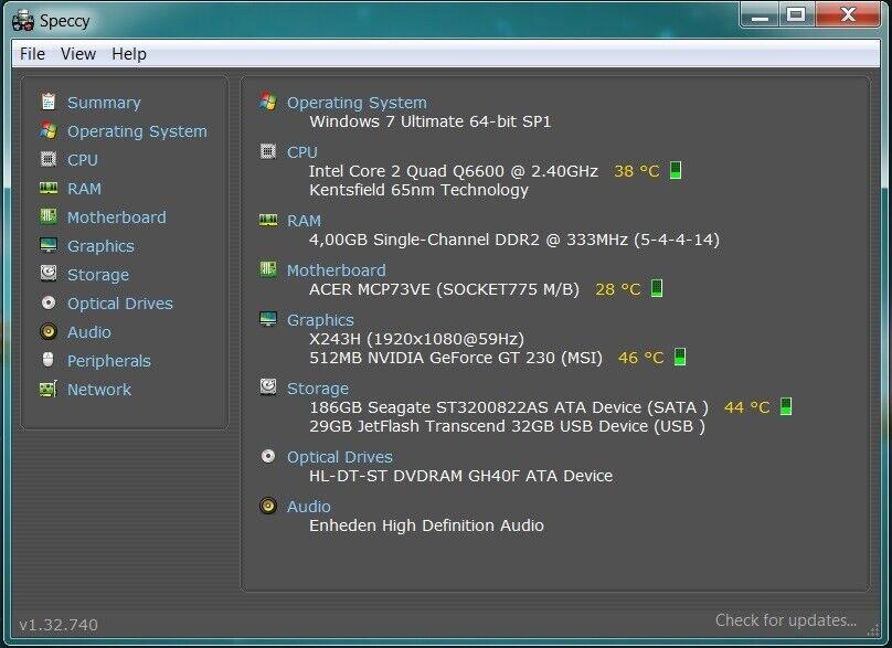 Acer, 2,4 Ghz, 4 GB ram