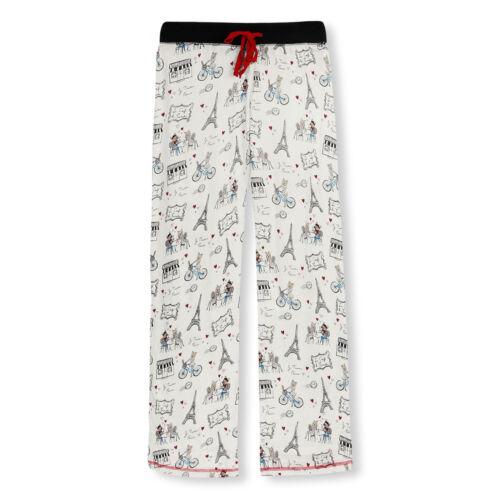 Salvage Damen Pyjamahose Hose lang Pants Café Frenchie S M L XL P.J