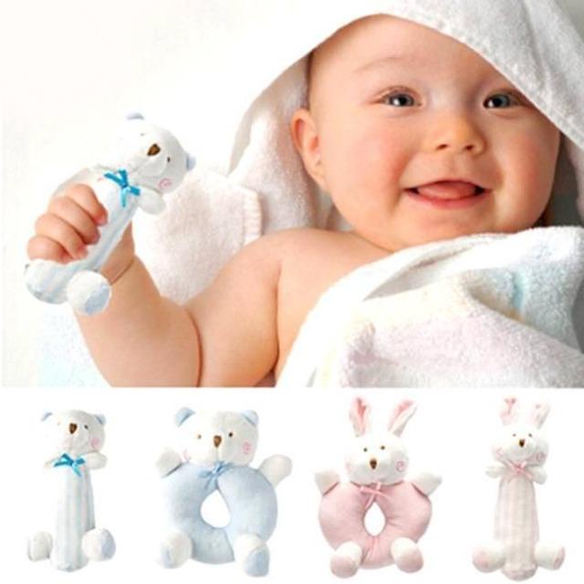 Baby Rassel Spielzeug Neugeborenen Tier Design Plüsch Glockenblumen Weihnachten