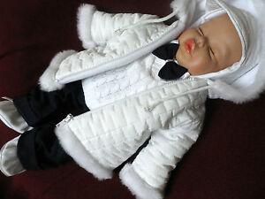 set winterjacke taufanzug festanzug jacke hose taufe baby. Black Bedroom Furniture Sets. Home Design Ideas