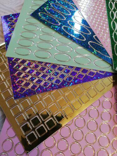 Card Making// Scrapbook Peel Offs Set of 10 Assorted Joblot of Card Toppers