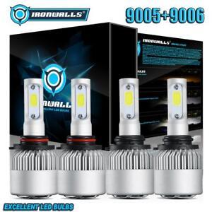 Hi-Lo-9005-9006-LED-Headlight-Bulb-for-Chevy-Silverado-1500-2500-HD-3500-1999-06