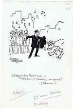 Saint-Ogan -Dessin de presse original signé -BE