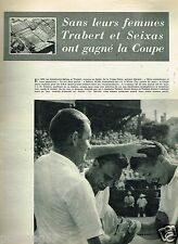 A- Coupure de Presse Clipping 1955 (3 pages) Coupe Davis Trabert et Seixas