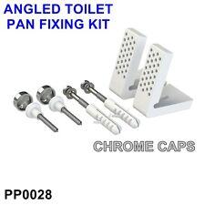 PP0028 Angled Floor WC Toilet Pan-Bidet Fixing Bathroom Fitting Kit Inc Bracket