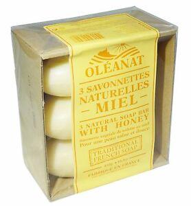 oleanat-MIEL-Jabon-3x150g-100-verdura-basado-Natural-barras-de-jabon
