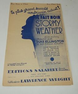 Partition-IL-FAIT-NOIR-STORMY-WEATHER-Duke-ELLINGTON-Ed-SALABERT