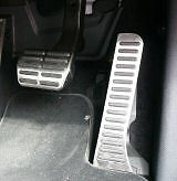 Skoda Genuine Parts - Stainless Pedal Covers DSG  MK2 OCTAVIA / SUPERB 1Z2064205