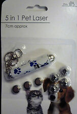5 in 1 Pet Laser Pen Toy & Keyring (Batteries Included)