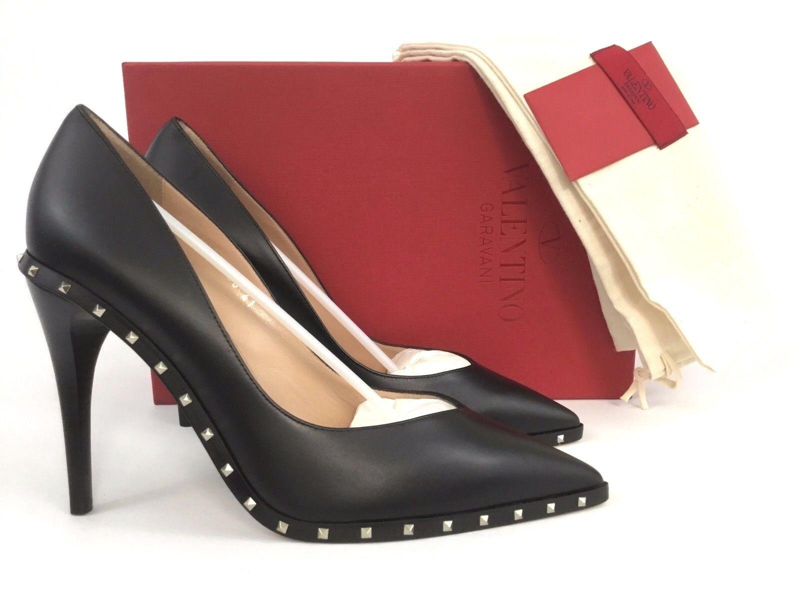657019fd462 Valentino Garavani Soul Rockstud Leather BOOTIES Black 41 (11)