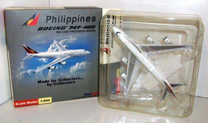 Schuco 1 500 Scale Scale Scale SJPAL008 Boeing 747-400 Philippines N751PR 5c594f