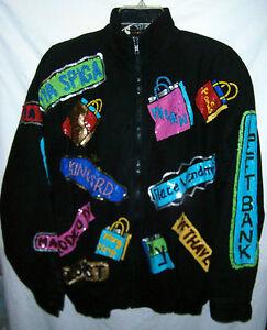 8 Modi Heavily 50 Jacket 50 Black Sequined 10 Shopper 8 Vint 10 World Med Tfq8w6
