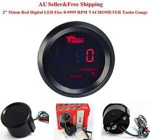 AU-2-034-52mm-Red-Digital-LED-Elec-0-9999-RPM-Tachometer-Tacho-Gauge-Car-Motor
