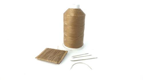 Beige fuerte 1mm de espesor de mano de cuero encerado Agujas De Coser Costura Hilo /&