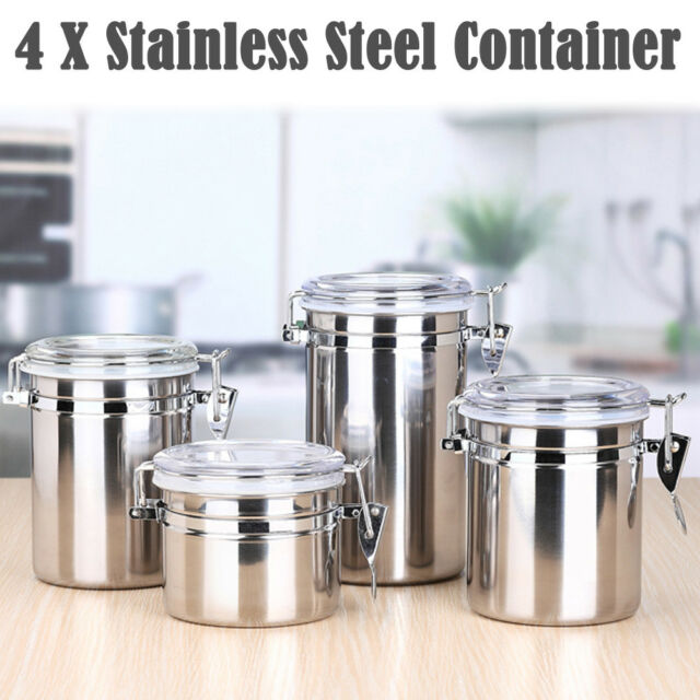 Stainless Steel Sealed Canister Jar Coffee Sugar Tea Storage Bottle