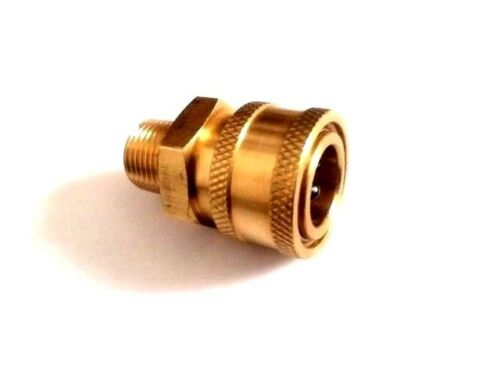 "Brass Quick Connect Coupler NPT Pressure Washer 3//8/"" Male"