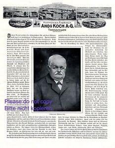 GéNéReuse Harmonica... Usine Koch Trossingen Publicité 1916 Fig. Bubsheim Aldingen Wehingen +-afficher Le Titre D'origine