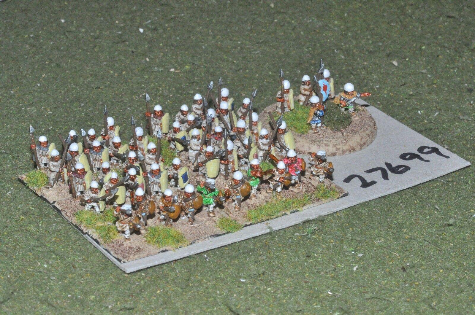 10mm roman era   sassanid - levy spearmen 50 figures - inf (27699)
