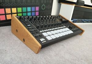 Roland MC707 Solid Oak Stand from Synths And Wood Drum Machine Sampler