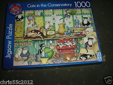 F.X.SCHMID CATS IN THE CONSERVATORY DELUXE 1000 PIECE  JIGSAW PUZZLE