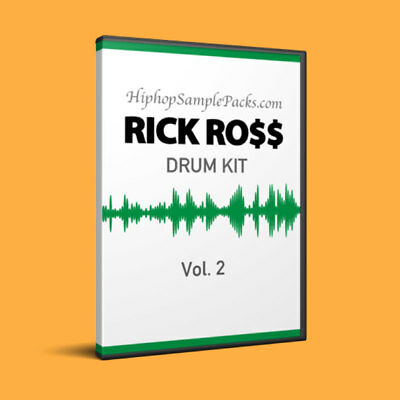 RICK ROSS 2 DRUM SOUND KIT Trap HIP HOP SAMPLES SOUTH SOUTHERN RAP LUGER MPC FL