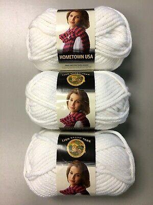 Lion Brand Hometown USA Yarn-New York White 135-100