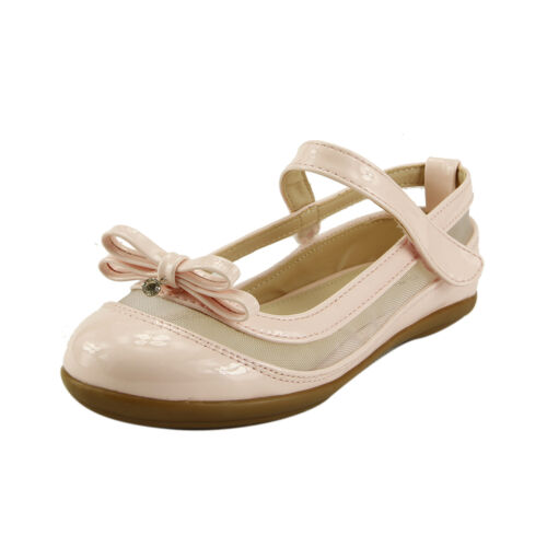 Girl/'s Dress Shoes Drop Pendant Bow Glossy Ballet Lace Line Toddler Little Kids
