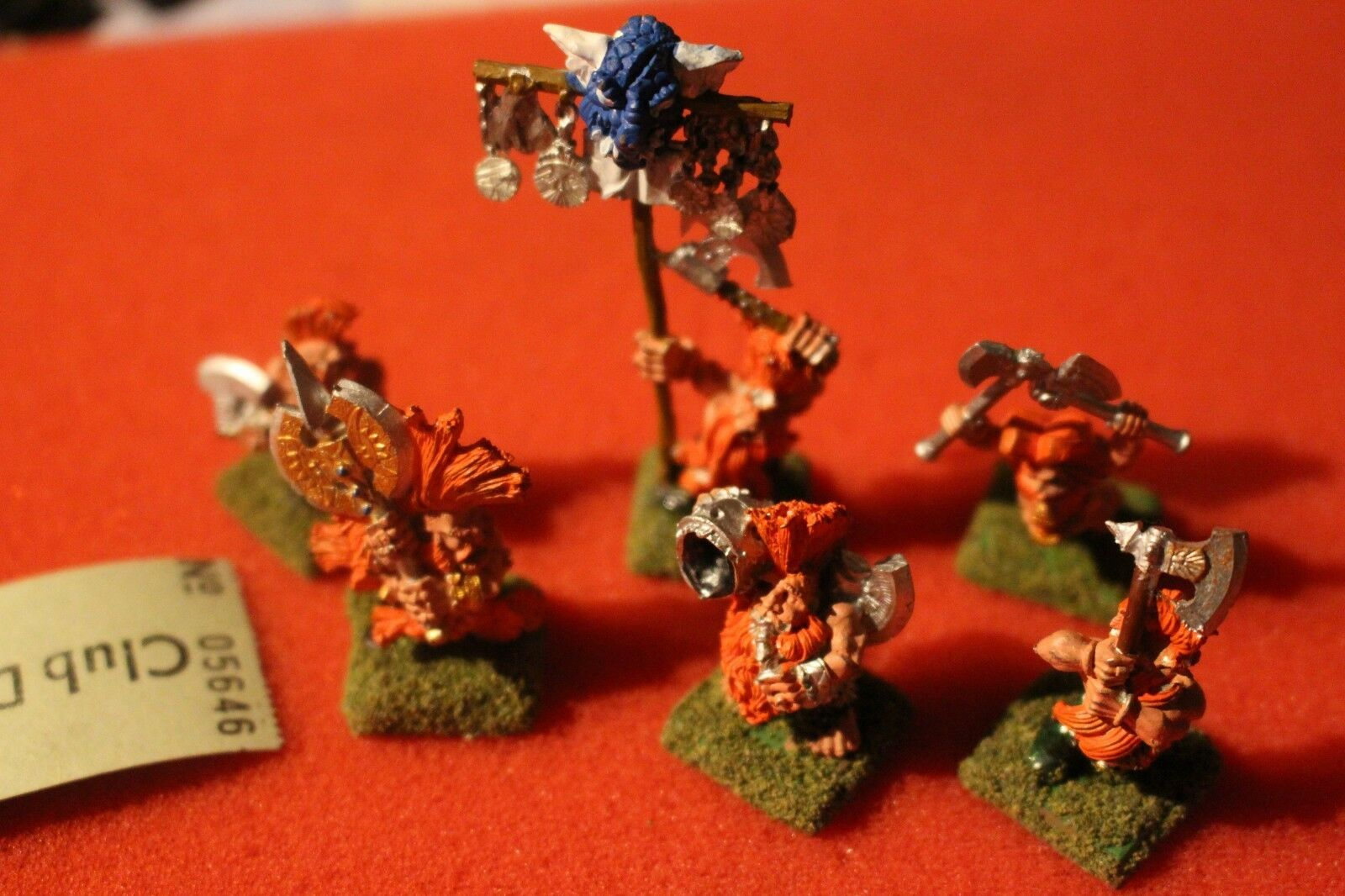 Games Workshop Warhammer Dwarf Dwarves Troll Slayer Command 5 Metal Figures OOP