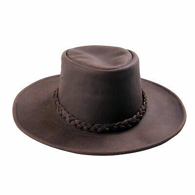 AUSTRALIA Herren Western Cowboy Reiten Wild Leder Hut Beige Brown