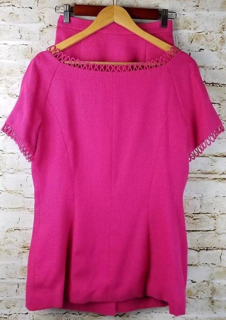 Vintage Arnold Scaasi Couture Womens SZ 8 Pink Li… - image 4