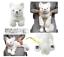 Hizakitsune-white-Plush-M-size-Knee-fox-Doll-Stuffed-toy-SUN-LEMON-From-JAPAN thumbnail 1